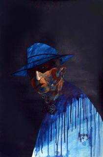 Untitled - Portrait of Man in Blue II by Jose Maria Ansalone