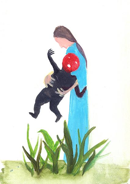 The  Litltle Red  Men  Want Get Out by Carmen García Bartolomé