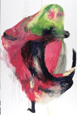 Head Wolf Goat by Carmen García Bartolomé