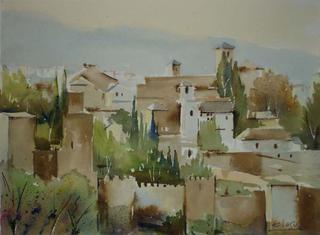 """Alhambra of Granada II by Enrique López Suárez """"Elosu"""""""