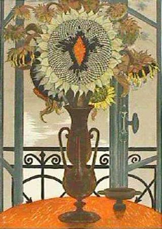 Tournesols dans un Vase by Jean Pierre Alaux