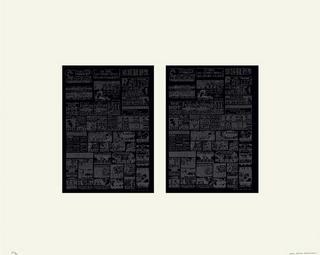 Deux fois rose (noir) by Jean-Pierre Bertrand
