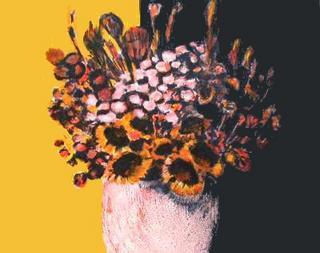Bouquet noir et Jaune by Jean-Claude Allenbach