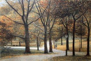 Central Park, Walking Path by Harold Altman