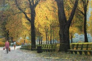 Central Park, Walking Path II by Harold Altman