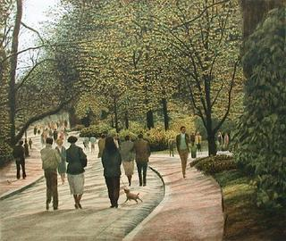 Paris Buttes-Chaumont, Sunday Afternoon by Harold Altman