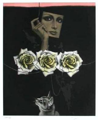 Trois Roses et un Chat by Riko Araï