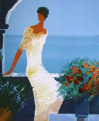 Sur la Terrasse Fleurie by Emile Bellet