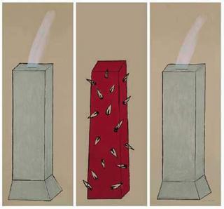 Untitled (Triptych ) by Sylvie Blocher