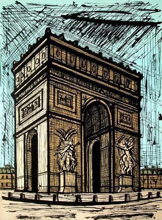 Paris, l'Arc de Triomphe by Bernard Buffet