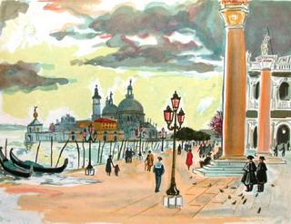 Venise, la Place St Marc by Yves Brayer