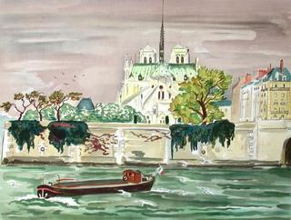 Le Chevet de Notre-dame by Yves Brayer