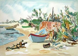 Plage de Camargue by Yves Brayer