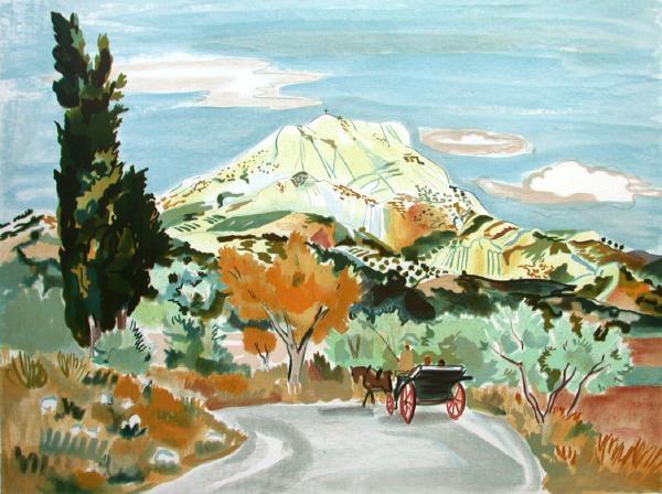La route de la Montagne Ste Victoire by Yves Brayer