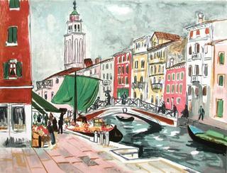 Venise by Yves Brayer