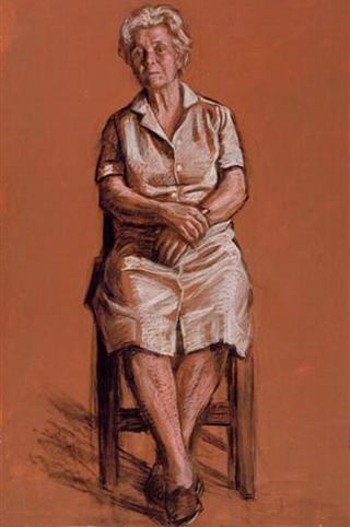 Sit Woman, Lap Hands by Rafael Serrano Muñoz