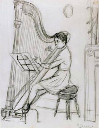 Boy with Harp by Rafael Serrano Muñoz
