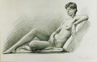 Woman Nude by Rafael Serrano Muñoz