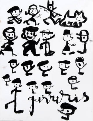 Garriris' Sketch B/W by Javier Mariscal