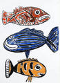 Fishes - Colored Sketch by Javier Mariscal