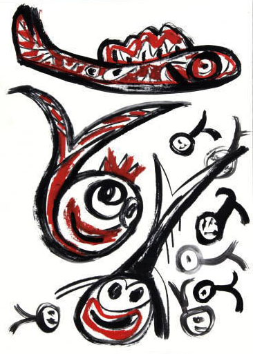 Rounded Fishes Sketch by Javier Mariscal