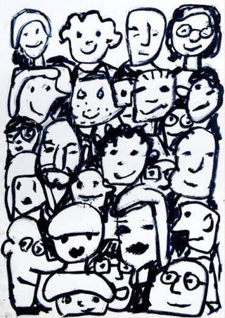 26 Faces Together by Javier Mariscal