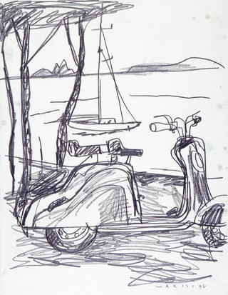 Lambretta at the Beach by Javier Mariscal
