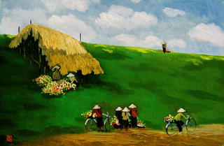 On the Dike Slope by Nguyen To Ngoc