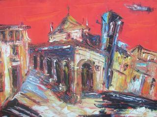 Red Landscape VII by Uceda