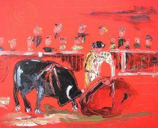 Bullfighting I by Uceda