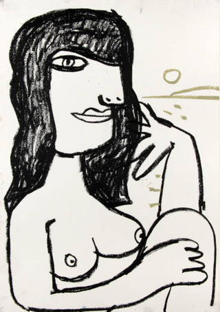 María. Cubist Portrait Picassin' Style by Javier Mariscal