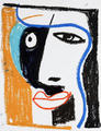 Cubist Girl. Sketch by Javier Mariscal