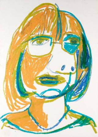 Mercè Forcespessetes. Cubist Portrait, Picassin' Style by Javier Mariscal