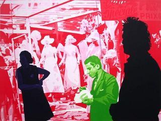Peintre et Modèle : Rouge de Cadmium Clair by Gérard Fromanger
