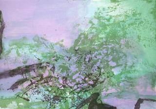 Composition 394 by Zao Wou-Ki