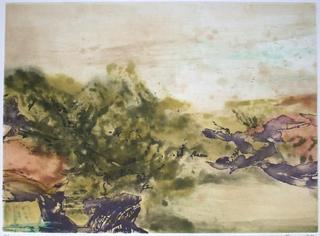 Composition 325 by Zao Wou-Ki