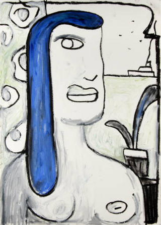 Olga Maria del Mar. Cubist Portrait Picassin' Style by Javier Mariscal