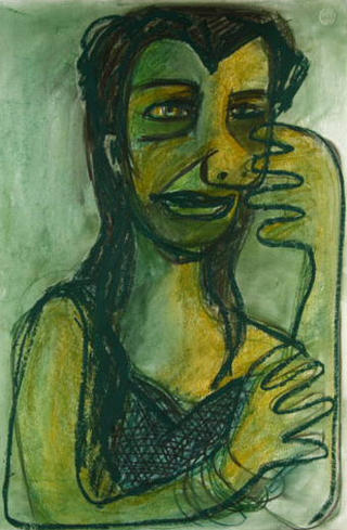 R J Leresma. Cubist Portrait Picassin' Style by Javier Mariscal