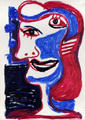MJ Antonio. Cubist Portrait Picassin' Style by Javier Mariscal