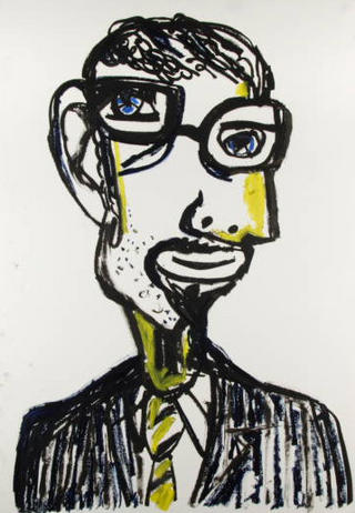 Mario Zamusso. Cubist Portrait Picassin' Style by Javier Mariscal