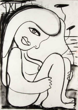 Eva Turpes. Cubist Portrait Picassin' Style by Javier Mariscal