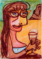 Dorotea. Cubist Portrait Picassin' Style by Javier Mariscal