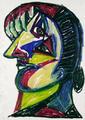 Doora Amat. Cubist Portrait Picassin' Style by Javier Mariscal