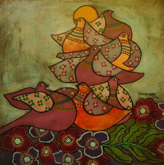 Doves Series: Rest at the Evening by Enrique Bustamante