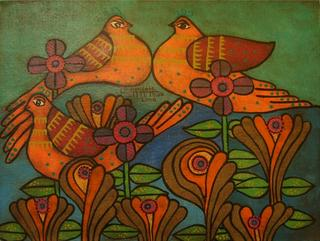 Doves Series:  The Garden of Earthly Delights by Enrique Bustamante