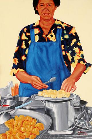 Venus Cooking Chinese Food by Kritsana Chaikitwattana