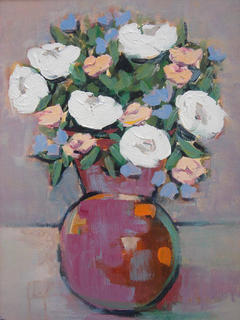 Still Life with Flowers by Juan O. Perez
