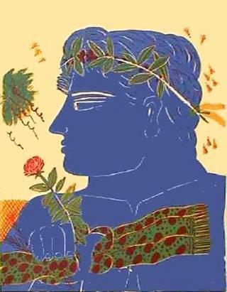 Profil Bleu à la Rose by Alexandre Fassianos
