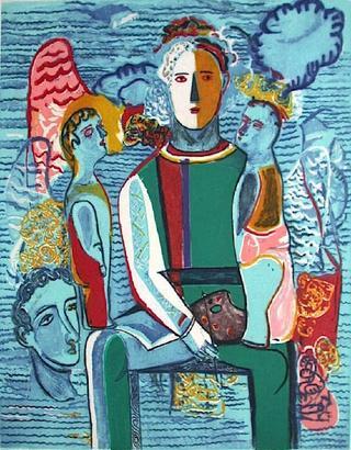 Le Peintre à sa Palette by Sandro Chía
