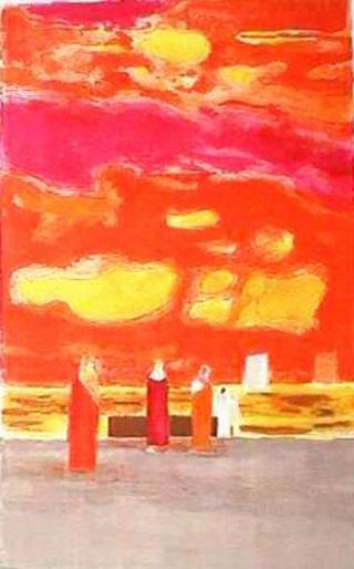 Soir sur la Plage de Negombo by Bernard Cathelin